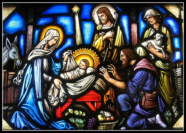 Nativity of Christ_stained glass